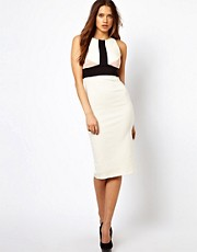 Vesper Midi Dress in Colour Block