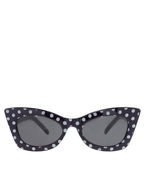 Image 2 ofASOS Polka Dot Cat Eye Sunglasses