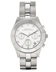MARC BY MARC JACOBS SILVER CHRONOGRAPH WATCH