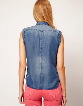 Image 2 ofG-Star Sleeveless Denim Shirt