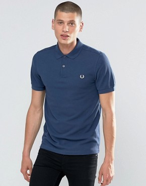 Fred Perry Polo Shirt In Service Blue
