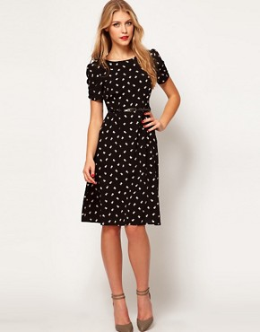 Image 1 ofASOS Midi Dress in Daisy Print