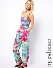 ASOS PETITE Exclusive Tie Dye Jumpsuit