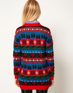 Image 2 ofASOS Christmas Boyfriend Cardigan