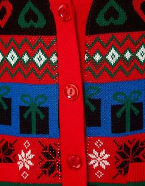 Image 3 ofASOS Christmas Boyfriend Cardigan