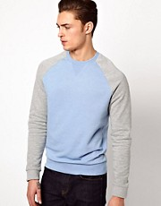 ASOS Sweatshirt With Contrast Sleeves