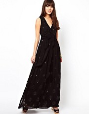 Manoush Maxi Dress in Embellished Summer Silk