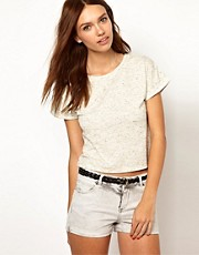 Warehouse Fluro Fleck Crop Tee