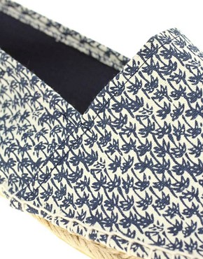 Image 2 ofASOS Palm Tree Print Espadrilles