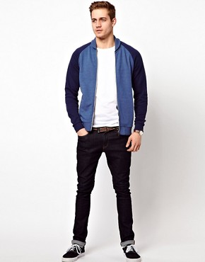 Image 4 ofASOS Bomber With Contrast Sleeves