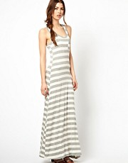 Wal G Striped Maxi Vest Dress