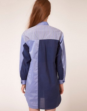Image 2 ofBaum Und Pferdgarten Shirt Dress With Multi Stripe Panels