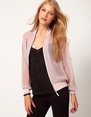 ASOS Sheer Bomber Jacket