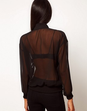 Image 2 ofASOS Sheer Bomber Jacket
