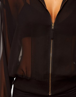 Image 3 ofASOS Sheer Bomber Jacket