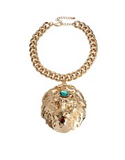 ASOS Premium Lion Collar Necklace