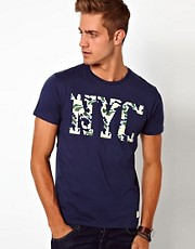 Jack & Jones T-Shirt With NYC Camo Print