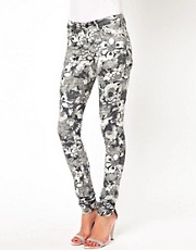 Vila Floral Print Skinny Jean