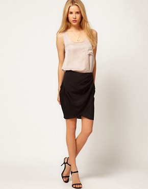 Image 1 ofASOS Wrap Skirt In Crepe