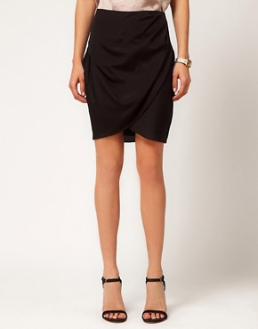 Image 4 ofASOS Wrap Skirt In Crepe