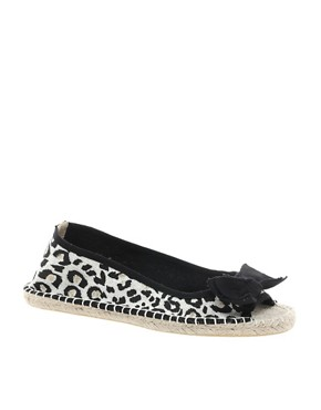 Image 1 ofASOS MARBLE Peep Toe Bow Flat Espadrilles