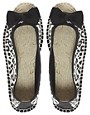 Image 3 ofASOS MARBLE Peep Toe Bow Flat Espadrilles