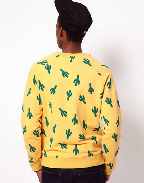 Image 2 ofASOS Sweatshirt With Cactus Print
