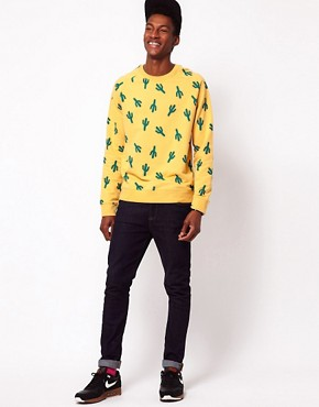 Image 4 ofASOS Sweatshirt With Cactus Print