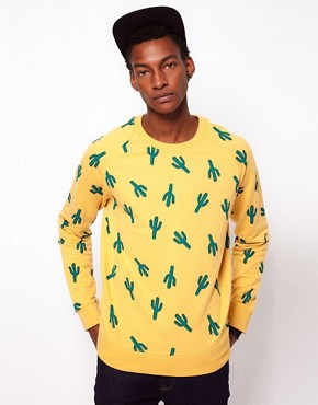 Image 1 ofASOS Sweatshirt With Cactus Print