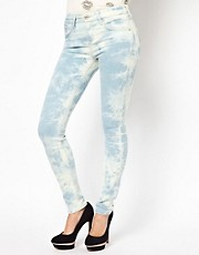 River Island Amelie Skinny In Tye Dye Denim