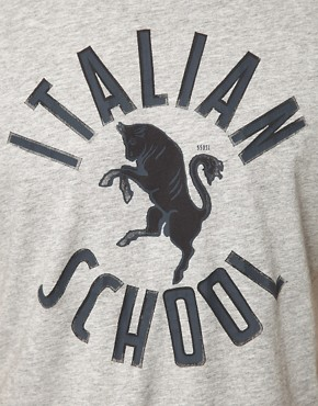 Image 3 of55DSL Italian Print T-Shirt