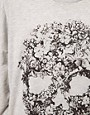 Image 3 ofJust Female Flower Skull Oversized Sweatshirt