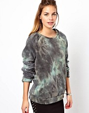 Glamorous Sweatshirt In Tie Dye