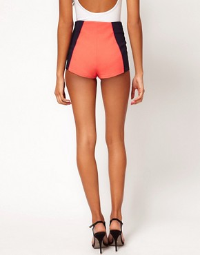 Image 2 ofASOS Colourblack Contour Mini Shorts