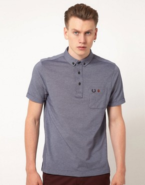 Image 1 ofFred Perry Polo Shirt Penny Collar Slim Fit