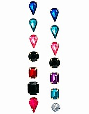 ASOS Gem Stud Pack Earrings