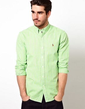 Image 1 ofPolo Ralph Lauren Shirt in Slim Fit Oxford Stripe