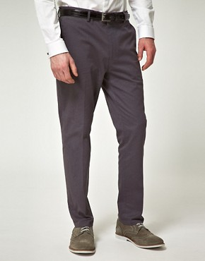 ASOS Slim Fit Suit Pant in Gray