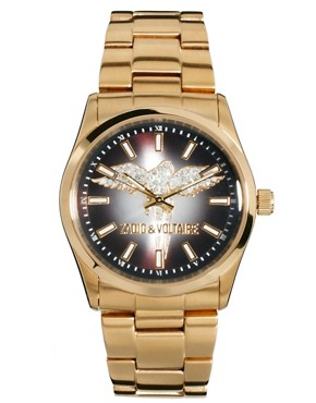 Image 1 ofZadig &amp; Voltaire Gold Crystal Wings Watch