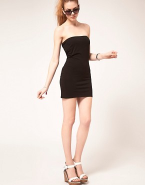 Image 4 ofVila Jersey Longline Bandeau Dress