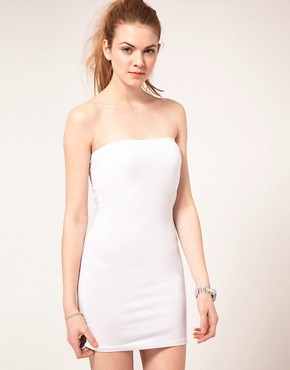 Image 1 ofVila Jersey Longline Bandeau Dress
