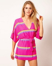 Juicy Couture Miss Divine Stripe V-Neck Cover Up
