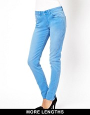 ASOS - Elgin - Jean skinny ultra doux - Bleu barbeau dlav