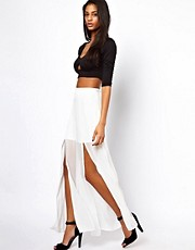 Love Maxi Skirt with Double Front Split