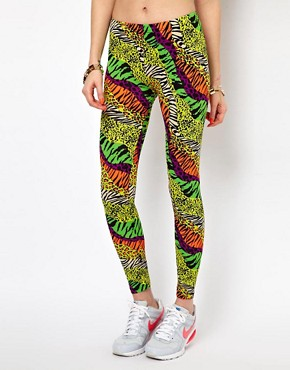 Image 4 of Kuccia Animal Rave Print Legging