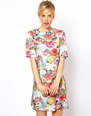 ASOS Photographic Jewel Print T-Shirt Dress