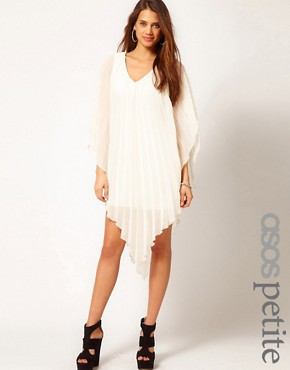 Image 1 ofASOS PETITE Pleated Dress