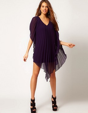 Image 4 ofASOS PETITE Pleated Dress