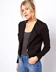 Chaqueta biker de punto roma de ASOS