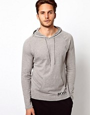 Boss Black Hooded Long Sleeve Top